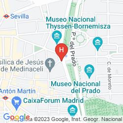 Mapa NH COLLECTION MADRID PASEO DEL PRADO