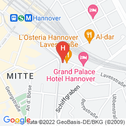 Mapa CITYHOTEL AM THIELENPLATZ HANNOVER