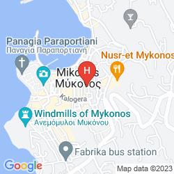 Mapa MADRES HOUSES MYKONOS