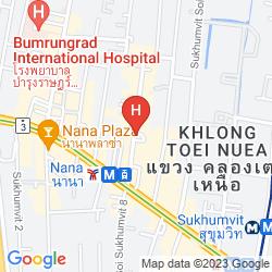 Mapa CITADINES BANGKOK SUKHUMVIT 11