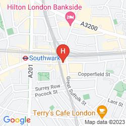 Mapa TRAVELODGE LONDON SOUTHWARK