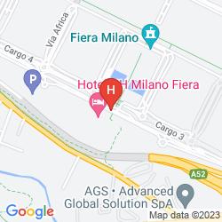 Mapa NH MILANO FIERA
