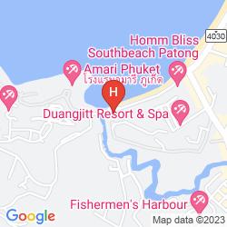 Mapa BAAN LAIMAI BEACH RESORT
