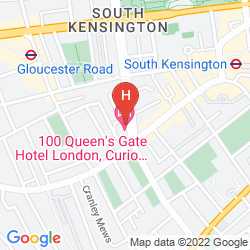 Mapa 100 QUEEN'S GATE HOTEL LONDON, CURIO COLLECTION BY HILTON