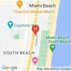 Mapa PRESIDENT SOUTH BEACH