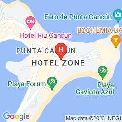 Mapa RIU CANCUN