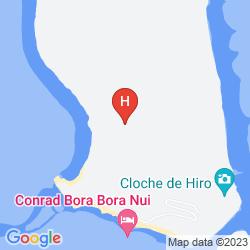 Mapa CONRAD BORA BORA NUI
