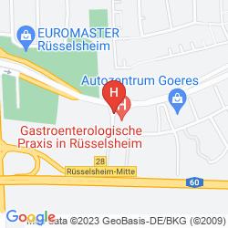 Mapa MICHEL HOTEL FRANKFURT AIRPORT