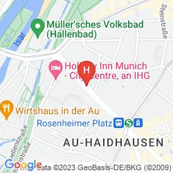 Mapa HILTON MUNICH CITY