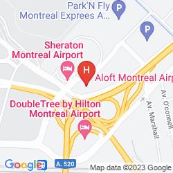 Mapa ALOFT MONTREAL AIRPORT