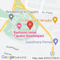 Mapa RADISSON HOTEL TAPATIO GUADALAJARA