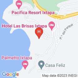 Mapa LAS BRISAS IXTAPA