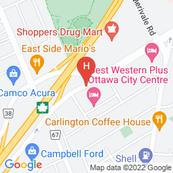 Mapa TRAVELODGE OTTAWA WEST