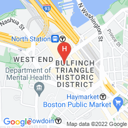 Mapa HOLIDAY INN EXPRESS AND SUITES BOSTON GARDEN