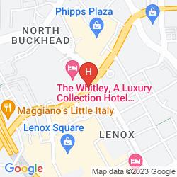 Mapa THE WHITLEY, A LUXURY COLLECTION HOTEL, ATLANTA BUCKHEAD