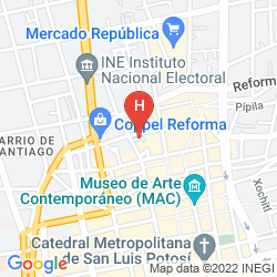 Mapa CITY EXPRESS SAN LUIS POTOSI