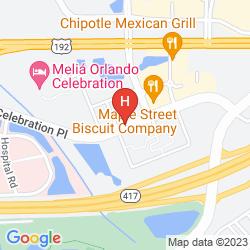 Mapa MELIA ORLANDO SUITES HOTEL AT CELEBRATION