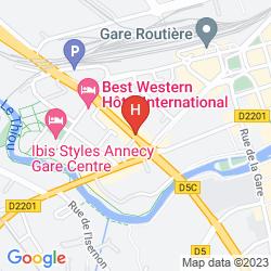 Mapa BEST WESTERN INTERNATIONAL