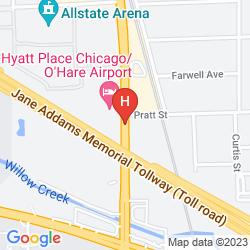 Mapa WYNDHAM O'HARE