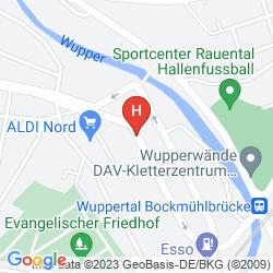 Mapa ART FABRIK HOTEL WUPPERTAL