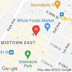 Mapa THE ST. REGIS NEW YORK