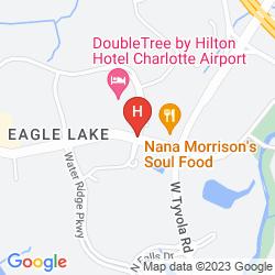Mapa DOUBLETREE BY HILTON HOTEL CHARLOTTE AIRPORT