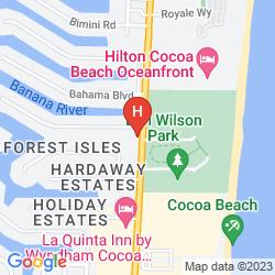 Mapa DOUBLETREE HOTEL COCOA BEACH-OCEANFRONT