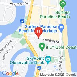 Mapa NOVOTEL SURFERS PARADISE
