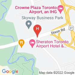Mapa SHERATON TORONTO AIRPORT HOTEL & CONFERENCE CENTRE