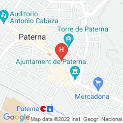 Mapa B&B HOTEL VALENCIA AEROPUERTO