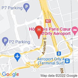 Mapa HILTON PARIS ORLY AIRPORT