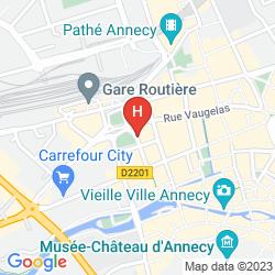 Mapa BEST WESTERN PLUS HOTEL CARLTON ANNECY