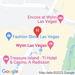 Mapa ENCORE AT WYNN
