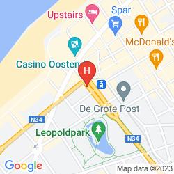 Mapa MERCURE OOSTENDE