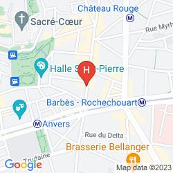 Mapa BEST WESTERN HOTEL LE MONTMARTRE SAINT-PIERRE