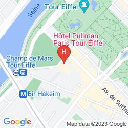 Mapa PULLMAN PARIS TOUR EIFFEL