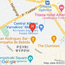 Mapa ATHENS CENTER SQUARE