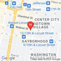 Mapa RODEWAY INN CENTER CITY