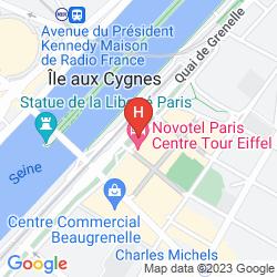 Mapa NOVOTEL PARIS CENTRE TOUR EIFFEL