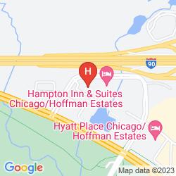 Mapa CANDLEWOOD SUITES CHICAGO-HOFFMAN ESTATES