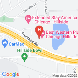 Mapa BEST WESTERN CHICAGO HILLSIDE