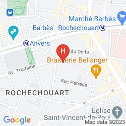 Mapa VINTAGE PARIS GARE DU NORD BY HIPHOPHOSTELS