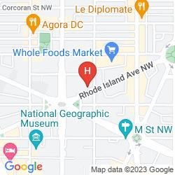 Mapa HOLIDAY INN WASHINGTON - CENTRAL - WHITE HOUSE