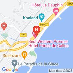 Mapa BEST WESTERN PRINCE DE GALLES