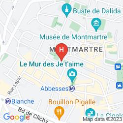 Mapa TIMHOTEL MONTMARTRE