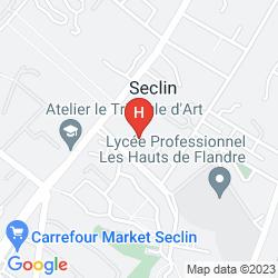 Mapa CAMPANILE LILLE SUD - SECLIN