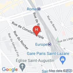 Mapa IBIS STYLES PARIS SAINT LAZARE