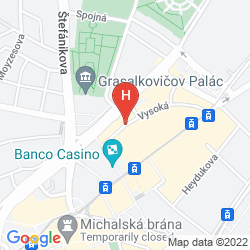 Mapa AUSTRIA TREND HOTEL BRATISLAVA