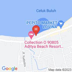 Mapa ADITYA BEACH RESORT