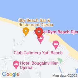 Mapa SEABEL RYM BEACH DJERBA